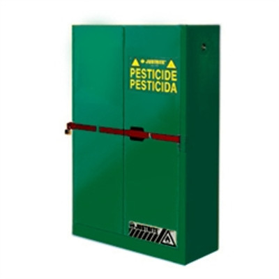 Justrite® High Security Safety Cabinet, 45 gal for Pesticides green self-closing