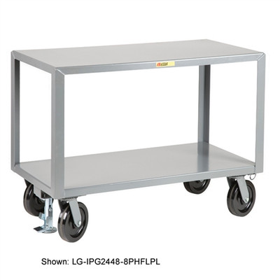 Industrial Strength Mobile Work Table, Locking, 30 x 48