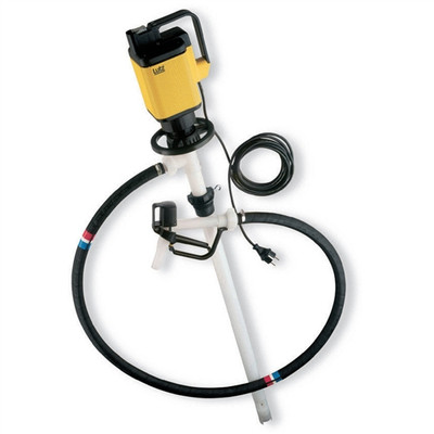 Drum Pump Set for Very Corrosive Chemicals, Electric, 39""