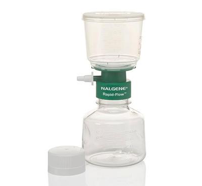 Nalgene® 126-0080 250mL Rapid-Flow Filter Complete Unit, CN, 0.8um, Sterile, 50mm, case/12