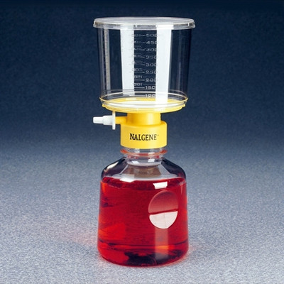 Nalgene® 162-0020 500mL Rapid-Flow Filter Unit 0.2um, SFCA, 90mm, case/12