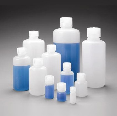 Nalgene® 2002-0032 Boston Round Bottles, 32oz HDPE, 38-430 Screw Caps, case/24
