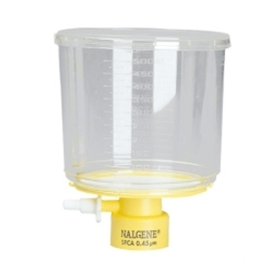 Nalgene® 291-3320 500mL Rapid-Flow Bottle Top Filter 0.2um, SFCA, 33mm neck, case/12