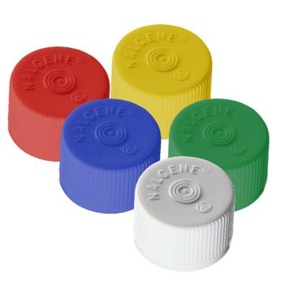 Nalgene® 342158-0022 HDPE Lined Closures (Sterile Caps) 20-415 for Serum Vials, Black, case/2000