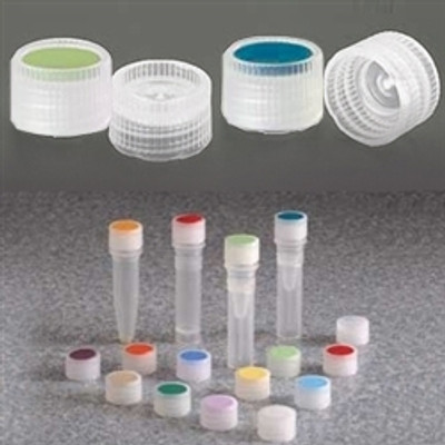 Nalgene® 342820 11mm Caps for Micro Packaging Vials with Color Coded Insert, Sterile, case/1000