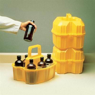Nalgene® 6505-0010 Solvent Bottles Carrier for six 500mL Bottles, case/6