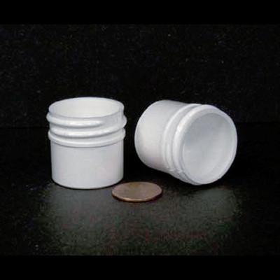 Bulk 0.25 oz 33mm White PP Jars, 10mL (no caps), case/2783