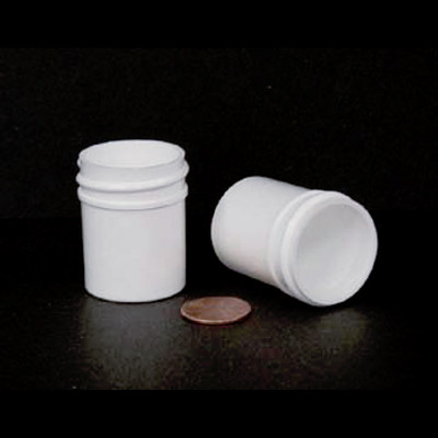 Bulk 0.5 oz 33mm White PP Jars, 15mL (1/2 oz), No Caps, case/2024