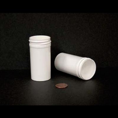 Bulk 1.5 oz 38mm White PP Jars, 45mL (no caps), case/760