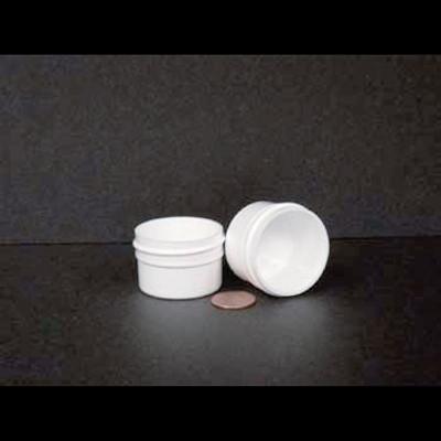 Bulk 0.5 oz 43mm White PP Jars, 15mL (1/2 oz), No Caps, case/1485