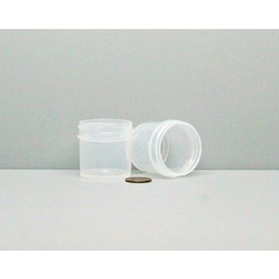Bulk 1 oz 43mm PP Jars, 25mL (no caps), case/980