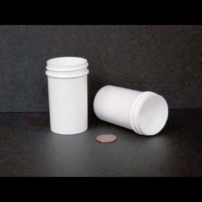 Bulk 2 oz 43mm White PP Jars, 60mL (no caps), case/560