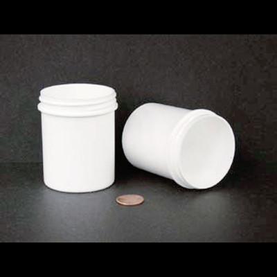 Bulk 4 oz 58mm White PP Jars, 125mL (no caps), case/280