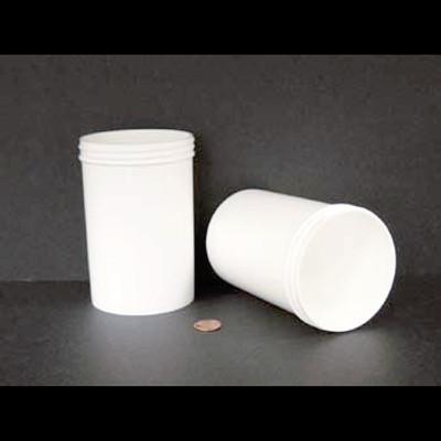 Bulk 20 oz 89mm White PP Jars, 600mL (no caps), case/150