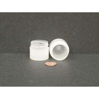 Bulk 0.25 oz 33mm PP Thick Wall Jars, 10mL (no caps), case/1890