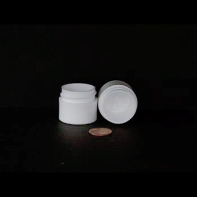 Bulk 0.25 oz 33mm White PP Thick Wall Jars, 10mL (no caps), case/1890