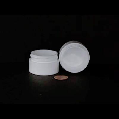 Bulk 0.5 oz 43mm White PP Thick Wall Jars, 10mL (no caps), case/1232