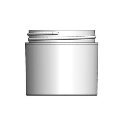 Bulk 2 oz 58mm White PP Thick Wall Jars, 60mL (no caps), case/420