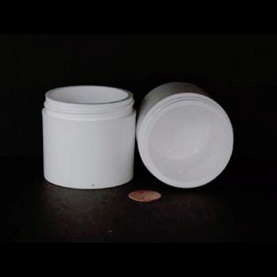 Bulk 3 oz 58mm White PP Thick Wall Jars, 100mL (no caps), case/396
