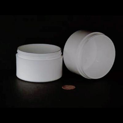 Bulk 3 oz 70mm White PP Thick Wall Jars, 4 oz (no caps), case/280