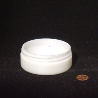 Bulk 3 oz 83mm White PP Thick Wall Jars, 100mL (no caps), case/252