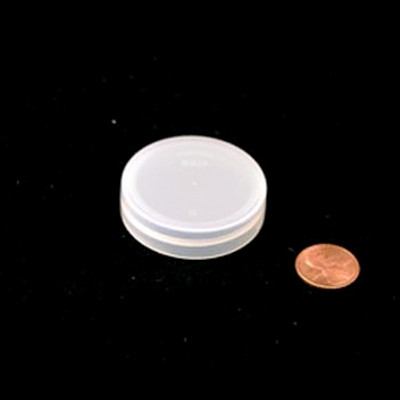 43mm (43-400) Natural PP Foam Lined Ribbed-Smooth Cap, Each