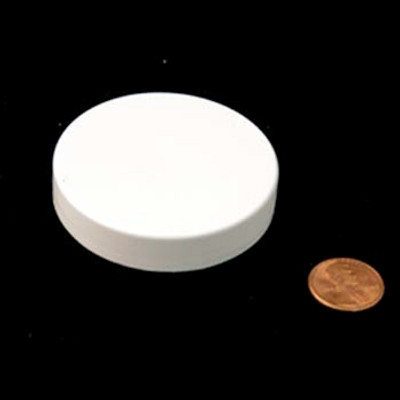 58mm (58-400) White PP Pressure Sensitive Lined Smooth Cap, Each