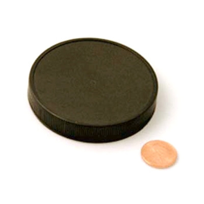 70mm (70-400) Black PP Foam Lined Ribbed Cap, Each