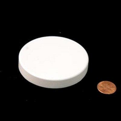 70mm (70-400) White PP Unlined Smooth Cap, Each