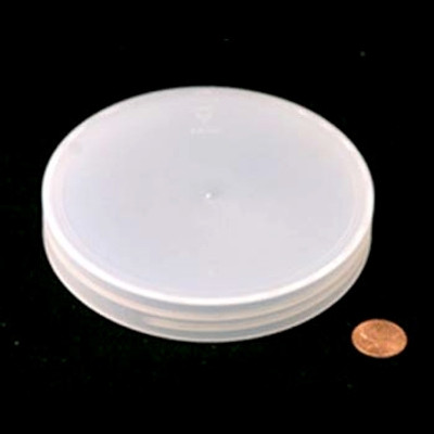 100mm (100-400) Natural PP Pressure Sensitive Lined Smooth Cap, Each