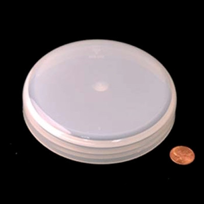120mm (120-400) Natural PP Unlined Domed Cap, Each