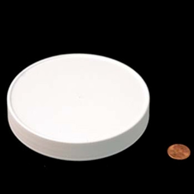 120mm (120-400) White PP Foam Lined Ribbed Cap, Each
