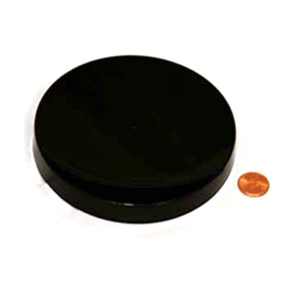 120mm (120-400) Black PP Pressure Sensitive Lined Smooth Cap, Each