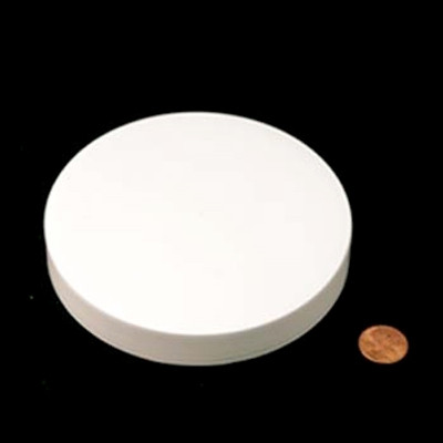 120mm (120-400) White PP Pressure Sensitive Lined Smooth Cap, Each