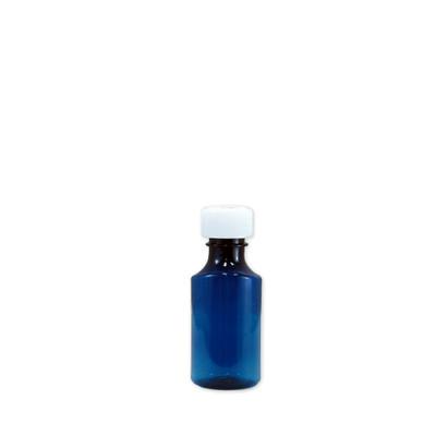 Oval Pharmacy Bottles, Blue, Graduated, Child-Resistant, 2 oz, case/200