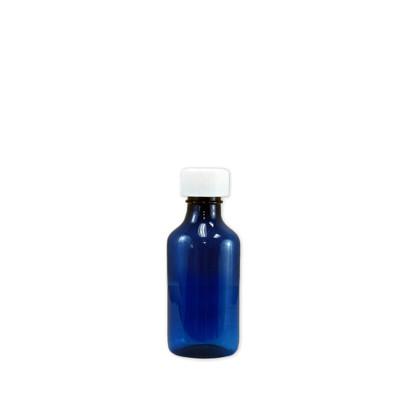 Oval Pharmacy Bottles, Blue, Graduated, Child-Resistant, 3 oz, case/200