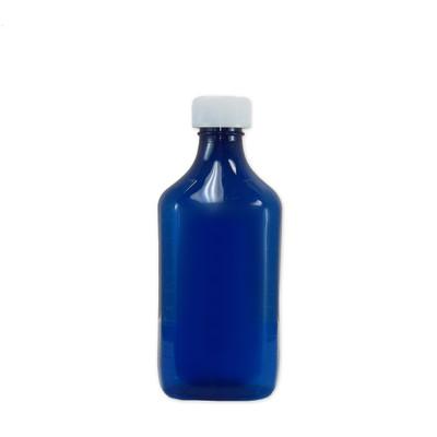 Oval Pharmacy Bottle, Blue, Graduated, Child-Resistant, 12 oz, case/100