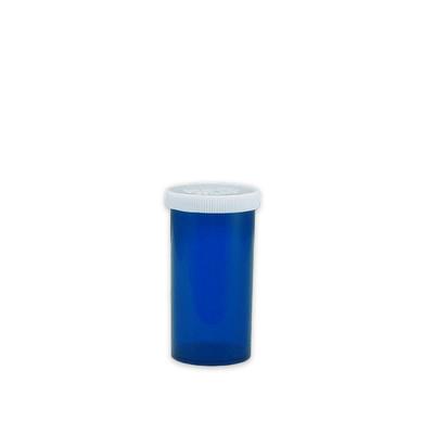 Blue Pharmacy Vials, Easy Snap-Caps, Blue, 13 dram (48mL), case/360