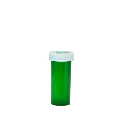 Green Pharmacy Vials, Child-Resistant, Green, 8 dram (30mL), case/410