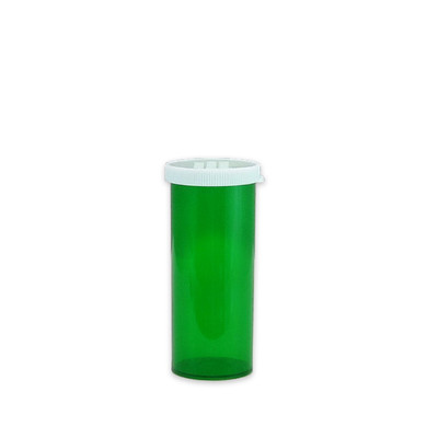 Green Pharmacy Vials, Easy Snap-Caps, Green, 16 dram (59mL), case/300