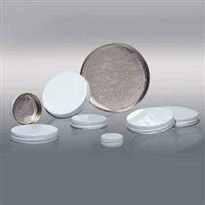 58-400 White Metal Cap, Aluminum Foil Lined, Each