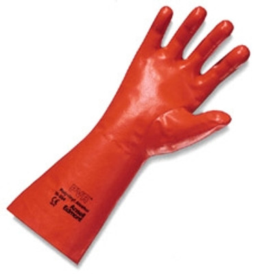 """Ansell 15-554 Chemical Resistant Gloves, PVA 14"""" Gauntlet, 1 Pair"""