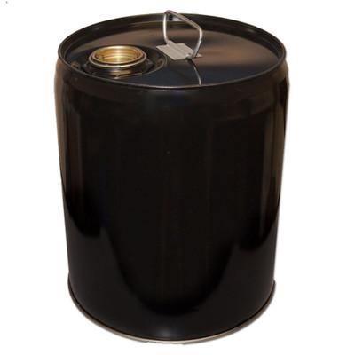 5 gallon steel drum, Tight head, Black Pail, Cap