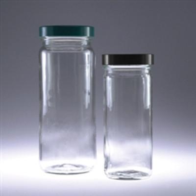 Tall Clear Glass Jars, 16 oz, No Caps, case/12