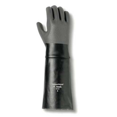 "Ansell 19-024 Thermaprene 18"" Chemical Gloves for Acids, Alcohols"