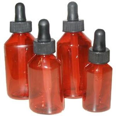 a94717b13f88 Amber Plastic Dropper Bottles, Round Polypropylene, 1 oz, case/144