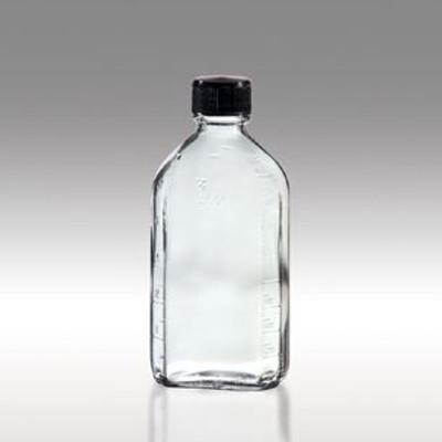 Oval Glass Pharmacy Bottles, Vinyl Lined Caps, 6 oz, case/48