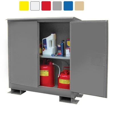 Weatherproof outdoor cabinet, 45 gal Self-Closing, 2-Door