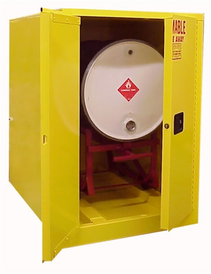 Horizontal Drum Combo Cabinet (1 Drum, Safety Can) Securall® H360