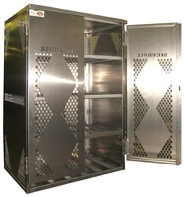 Gas Cylinder Storage Cabinet, 12 LP, Aluminum